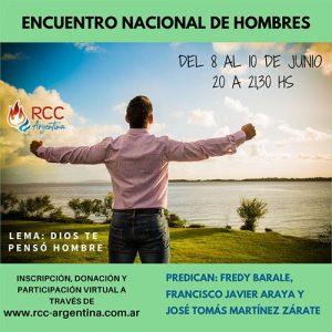 OFRENDA VOLUNTARIA AR$ 300. ENCUENTRO NACIONAL DE HOMBRES